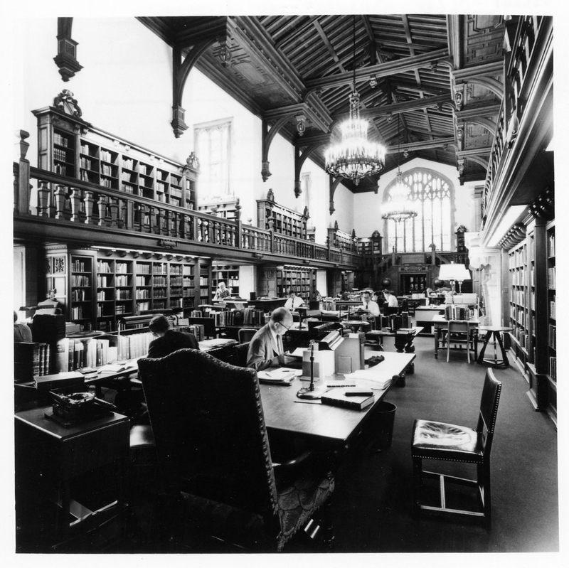 Folger Shakespeare Library interior, 1959