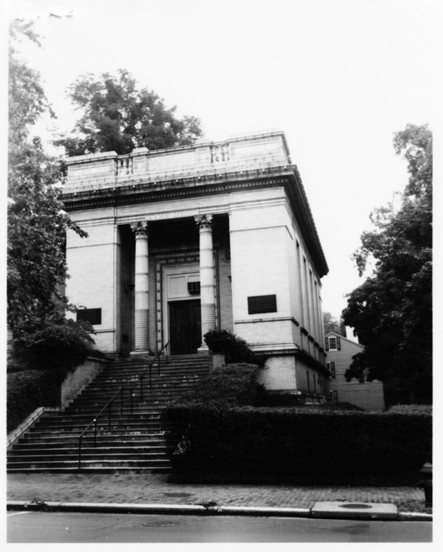 Volta Bureau, west (front) elevation and south side, looking east, August 1972