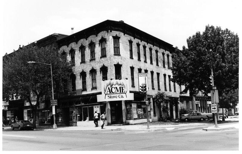 1005 & 1007 Seventh Street, N.W., looking northeast, June 1983