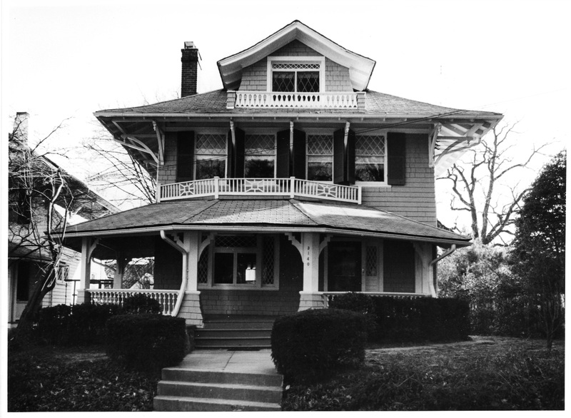Cleveland Park Historic District, 3035 Newark Street, view from south, 1985
