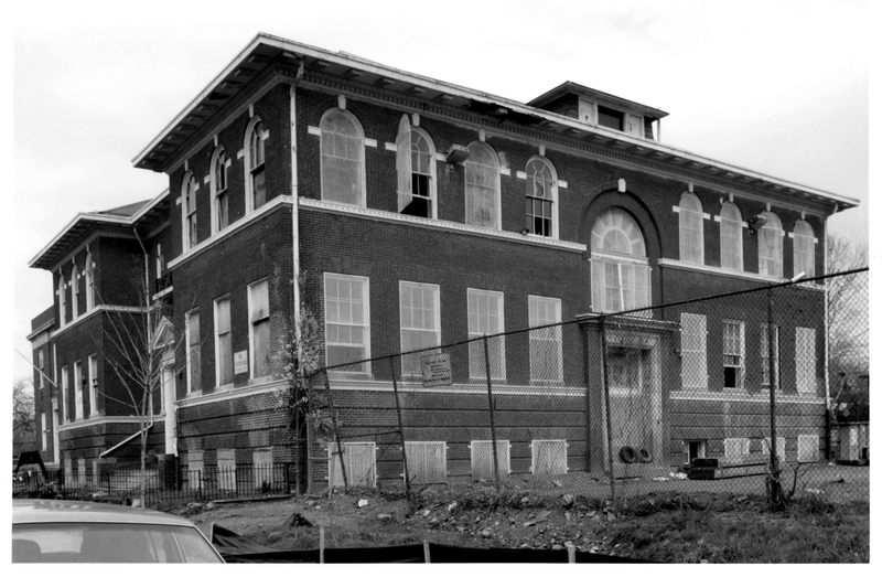 Black and White image of William Syphax School. DC Inventory, 2001.
