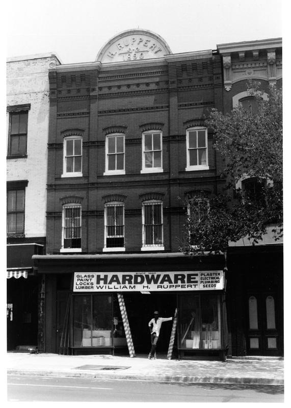 1021 Seventh Street, N.W., looking east, June 1983