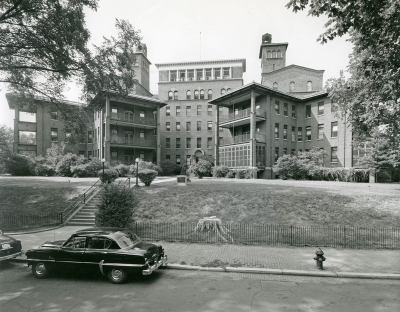 Columbia Hospital for Women as it appeared in the 1950s (photo courtesy of the Historical Society of Washington, D.C.)