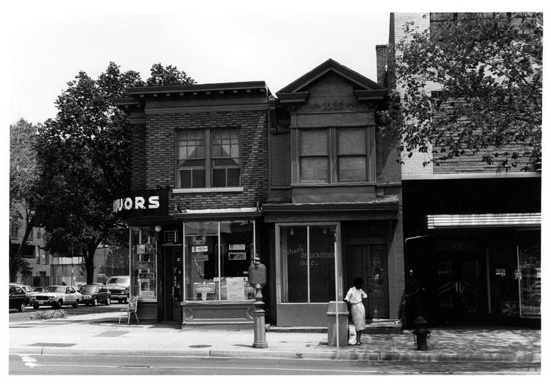 1033 & 1035 Seventh Street, N.W., looking east, June 1983