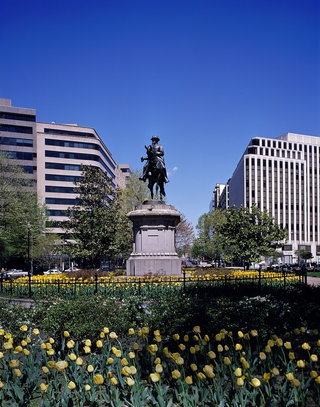 Equestrian statue of Union General James B. McPherson, by Louis T. Rebisso, in McPherson Square, Washington, D.C.