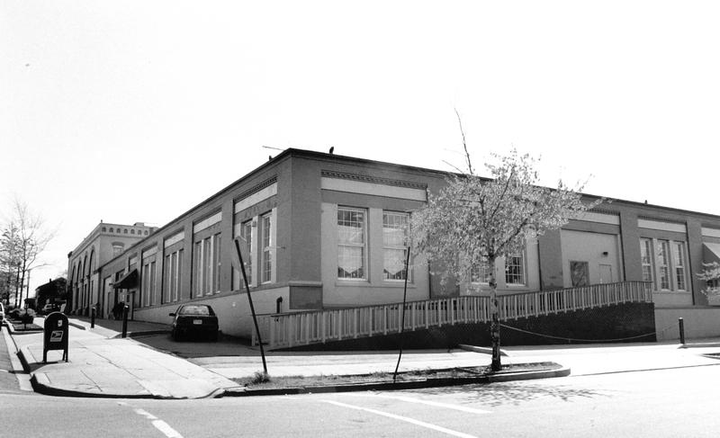 Navy Yard Car Barn, Rear Exterior