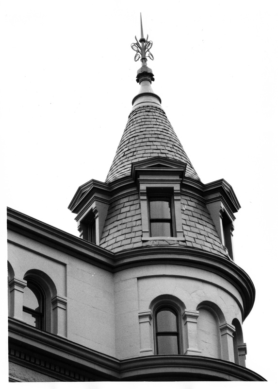 Apex Building, 633 Pennsylvania Ave., NW, tower detail facing southeast, 9/1988
