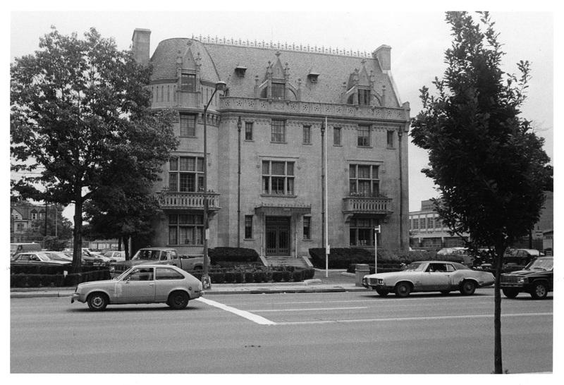 Embassy Building No. 10, facade, facing northeast, 1985