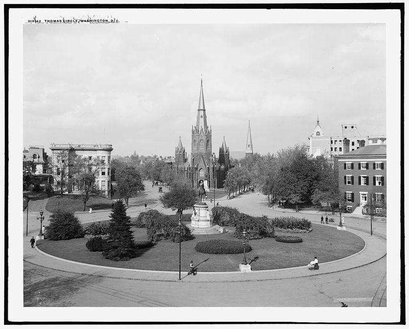 Thomas Circle, Washington, D.C., circa 1906